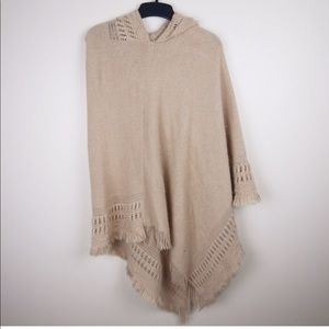 Apt. 9 | boho tan knitted pullover poncho